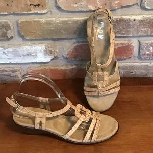A2 by AREOSOLES Cork Sandals Wedges